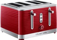 Russell Hobbs 4 Slice Inspire Toaster - Red